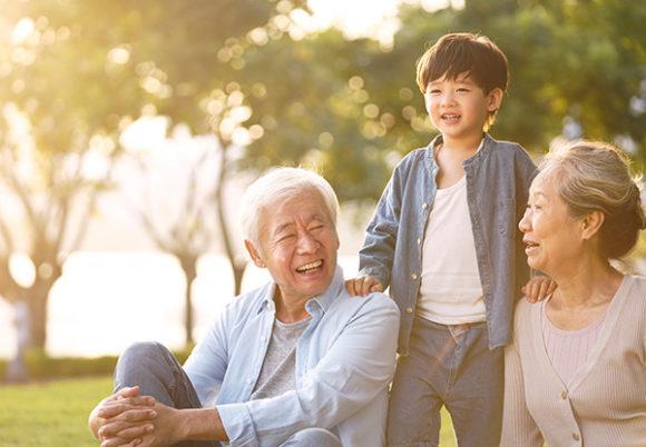 familj tre personer