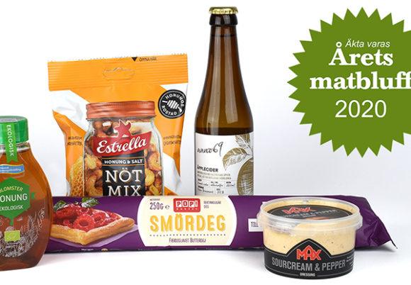 Produkter nominerade i Årets matbluff 2020