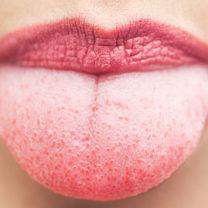 Närbild på en tunga