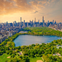 Flygbild över Central Park
