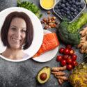Montage: Carina Stahre och bild på rå lax och grönsaker