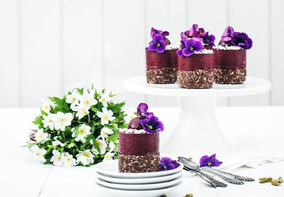 Små blåbärscheesecakes